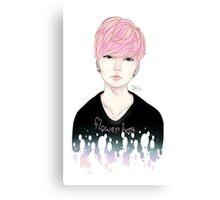 Pink Korean Flower Boy Canvas Print