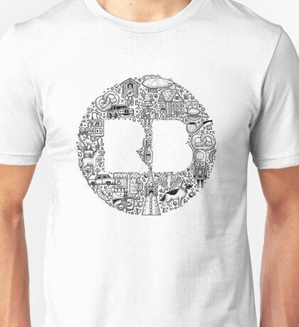 RB Germany Logo Pattern Black Unisex T-Shirt