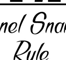Tunnel Snakes Rule Sticker