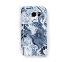 Isao - spilled ink art print marble blue indigo india ink original waves ocean watercolor painting Samsung Galaxy Case/Skin