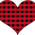 Plaid heart by rlnielsen4