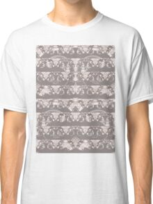 Nocturnal Animal Grey and white Feather double pattern Classic T-Shirt