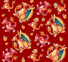 Charmander line pattern by Aguichan