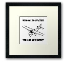 Aviation Broke Framed Print