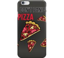 Don't Panic Eat Pizza Cartoon iPhone Case/Skin