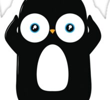 Funny Three Wise Penguins Sticker