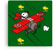 snoopy flaying Canvas Print