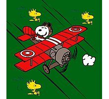 snoopy flaying Photographic Print