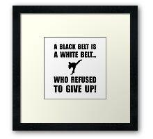 Black Belt Refusal Framed Print