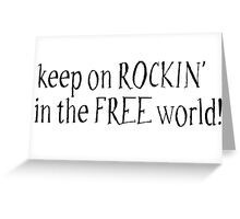 Rock Hippie Freedom Greeting Card