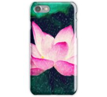 Dreamlike Pink Lotus Flower iPhone Case/Skin