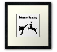 Extreme Hunting Framed Print