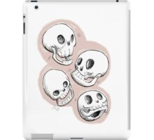 Four Skulls in Pastel Pink iPad Case/Skin