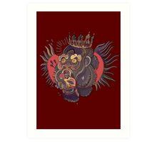 Conor Mcgregor Gorilla Tattoo (maroon) Art Print