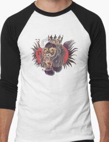 Conor Mcgregor Gorilla Tattoo (maroon) Men's Baseball ¾ T-Shirt