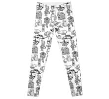 RB Germany Pattern Black Leggings