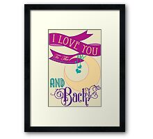 I love you... Framed Print