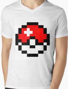 pokemon 8 bit pokeball Mens V-Neck T-Shirt