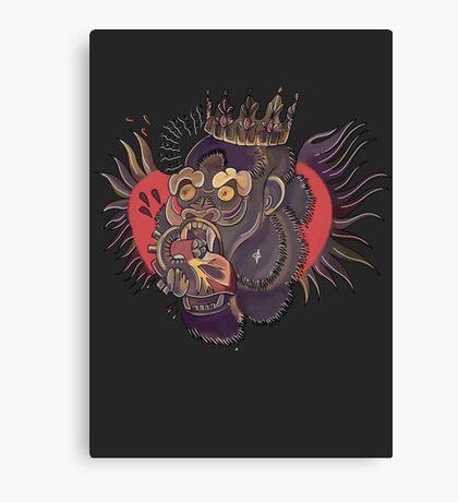 Conor Mcgregor Gorilla Tattoo (grey) Canvas Print