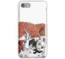 Little Red Riding Hood Print with wolf, forest iPhone Case/Skin