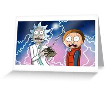 Rick and Morty go back to the future Greeting Card
