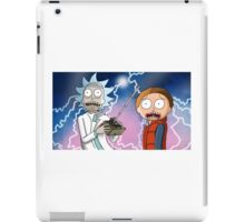 Rick and Morty go back to the future iPad Case/Skin