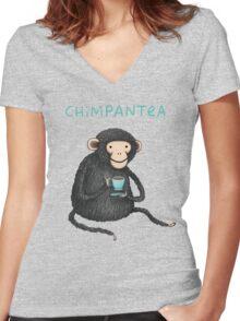 Chimpantea Women's Fitted V-Neck T-Shirt