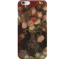 Vincent Van Gogh  - Vase with Chinese asters and gladioli, 1886 iPhone Case/Skin
