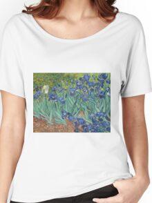 Vincent Van Gogh - Irises.  Van Gogh - Irises Impressionism Flowers 1889 Women's Relaxed Fit T-Shirt