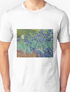 Vincent Van Gogh - Irises.  Van Gogh - Irises Impressionism Flowers 1889 Unisex T-Shirt
