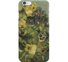 Van Gogh  - Basket of pansies iPhone Case/Skin