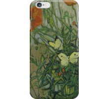 Vincent Van Gogh  - Butterflies and poppies, 1890 iPhone Case/Skin