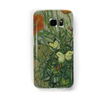 Vincent Van Gogh  - Butterflies and poppies, 1890 Samsung Galaxy Case/Skin