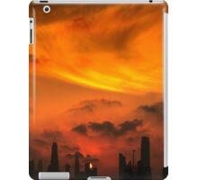 A sunset view of Dubai downtown in a magnificent cloudy evening. iPad Case/Skin
