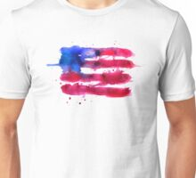 Abstract watercolor flag of the USA Unisex T-Shirt
