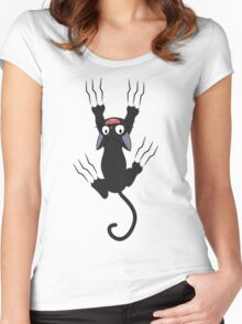 Jiji Grabbing - from Kiki's delivery service Women's Fitted Scoop T-Shirt