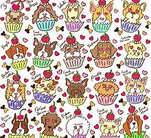 Cupcake Dogs ! by tomo-tomo
