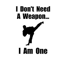 Martial Arts Weapon Photographic Print