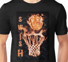 Fire basketball going through flames net Unisex T-Shirt