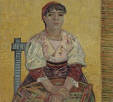 Vincent Van Gogh - The Italian Woman, 1887 by famousartworks