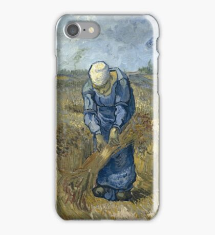 Vincent Van Gogh - Peasant woman binding sheaves, after Millet iPhone Case/Skin