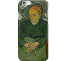 Vincent Van Gogh - La berceuse, Portrait of Madame Roulin, December 1888 - January 1889 iPhone Case/Skin