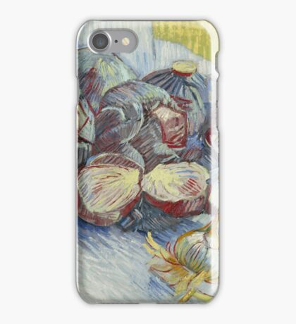 Vincent Van Gogh - Red cabbages and onions, October 1887 - November 1887 iPhone Case/Skin