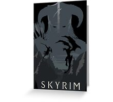 SKYRIM (black) Greeting Card