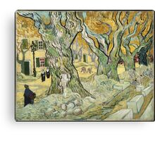 Vincent Van Gogh - The Road Menders, 1889 Canvas Print