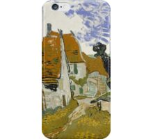 Vincent Van Gogh - Street in Auvers-sur-Oise, 1890,  Impressionism iPhone Case/Skin
