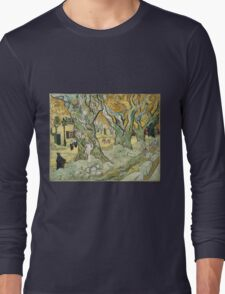 Vincent Van Gogh - The Road Menders, 1889 Long Sleeve T-Shirt