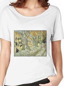 Vincent Van Gogh - The Road Menders, 1889 Women's Relaxed Fit T-Shirt