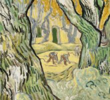 Vincent Van Gogh - The Road Menders, 1889 Sticker