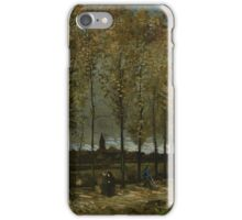Vincent Van Gogh - Poplars near Nuenen, 1885 iPhone Case/Skin